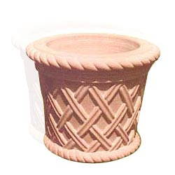 Basket Weave Design Flower Vase