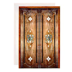 Carved Wooden Marble Inlay Doors