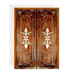 Crafted Wooden Marble Inlay Doors