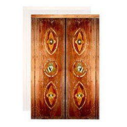 Decorated Wooden Marble Inlay Doors
