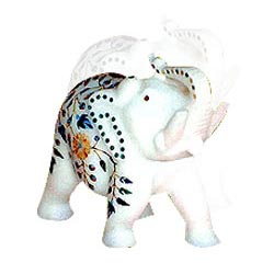 Handcrafted White Elephant