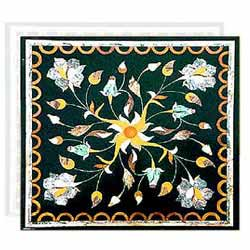 Marble Inlay Square Table Top
