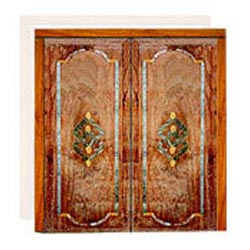 Wooden Marble Carved Inlay Doors